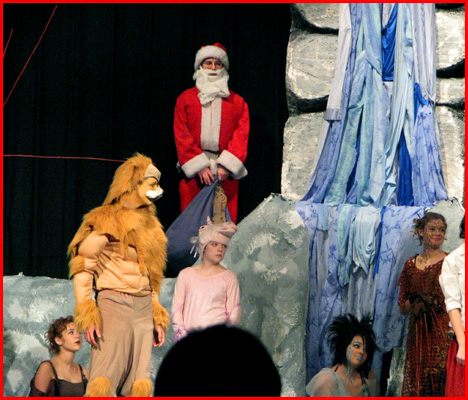 Willem (Father Christmas)On Stage beside the waterfall